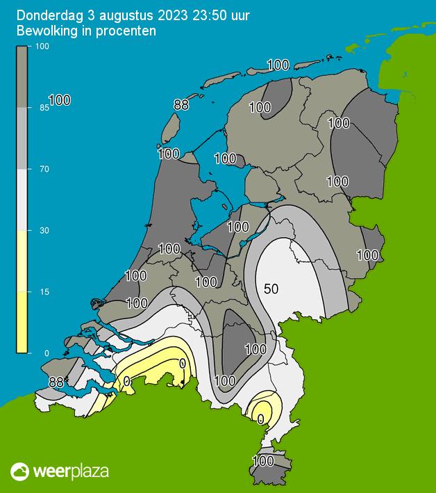 Nederland - Actuele Bewolking