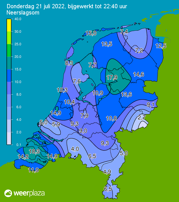 Klik voor neerslagsom in Nederland
