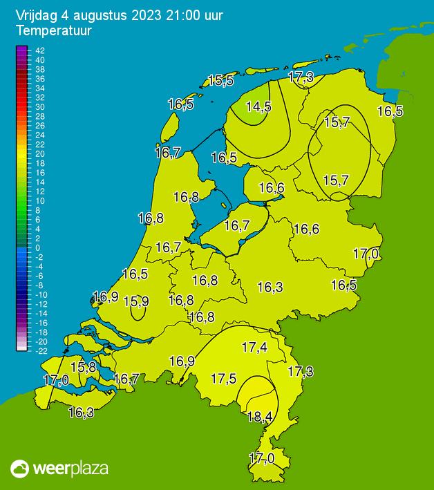 Nederland - Actuele Temperaturen